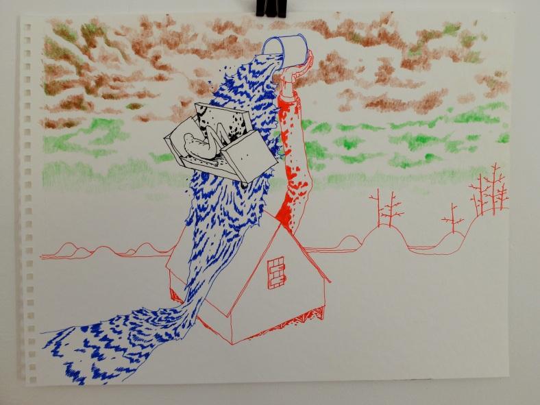 michael lilin dessin crayon feutre